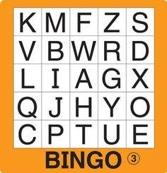 Kirjainten tunnistaminen - 12 erilaista bingopohjaa.