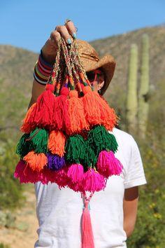 Put a Tassel On It : Multi-Colored Triple Pom Camel Swag Pom Pom, Tassel…