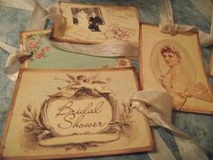 French Inspired Bridal Wish Tags Scrap  booking Journaling Gift Tags    Mslizz - Paper/Books on ArtFire