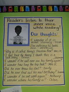 The Teaching Thief: Favorite Picture Books for Teaching Comprehension (I LOVE Henry's Freedom Box! Reading Comprehension Strategies, Reading Resources, Reading Skills, Teaching Reading, Teaching Ideas, Guided Reading, Reading Response, School Resources, Writing Skills