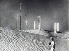 "Heinz Mack in ""Tele-Mack,"" his 1968 film of his installations in the desert."