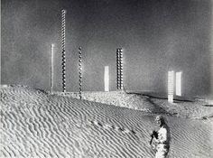 "Heinz Mack in ""Tele-Mack,"" his 1968 film of his installations in the desert."