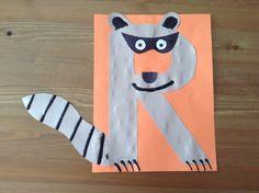 Letter R Crafts Preschool | is for Raccoon Craft - Preschool Craft