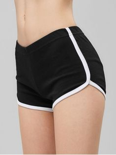 Style: Active Material: Cotton,Polyurethane Fit Type: Skinny Waist Type: Mid Closure Type: Elastic Waist Front Style: Flat Pattern Type: Others With Belt: No Seasons: Summer Weight: Package: 1 x Shorts Ripped Shorts, Cute Shorts, Sporty Outfits, Mode Outfits, Hot Pants, Pop Fashion, Fashion Outfits, Look Girl, Velvet Shorts