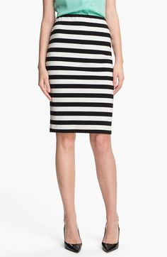 Now, a skirt on the other hand...(Vince Camuto Stripe Pencil Skirt available at Nordstrom)