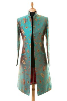 Weddings-If you are looking for something a little different to the standard Mother of Bride or Mother of the Groom outfits or simply want a stylish elegant wedding look then Shibumi is the place for Silk Coat, Silk Jacket, Groom Outfit, Groom Dress, Wedding Outfits For Groom, Wedding Coat, Pakistani Dresses Casual, Indian Designer Outfits, Cashmere Coat
