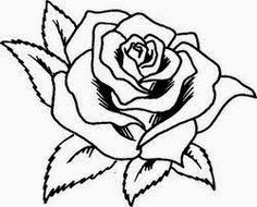 Rose Drawing Tattoo, Tattoo Drawings, Art Drawings, Tattoos, Stencil Patterns, Applique Patterns, Colouring Pages, Coloring Books, Free Adult Coloring