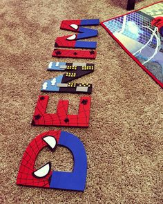 Spiderman letters                                                                                                                                                      More