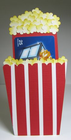 nice people STAMP!: Movie / Popcorn Gift Card Holder