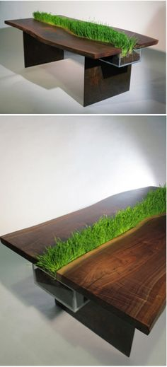 Design Inspiration: Dining Table With Built-In Planter