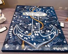 Creative guest book ideas / http://www.deerpearlflowers.com/incorporate-anchors-into-your-nautical-wedding/