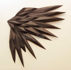"""9 Likes, 2 Comments - Queensland (@queensland298) on Instagram: """"Black wings #papercraft #papermodel #wings"""""""