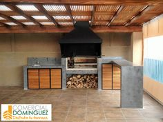 An outdoor kitchen can be an addition to your home and backyard that can completely change your style of living and entertaining. Outdoor Kitchen Patio, Outdoor Kitchen Design, Home Decor Kitchen, Kitchen Ideas, Diy Kitchen, Outdoor Living, Parrilla Exterior, Barbecue Design, Terrace Design