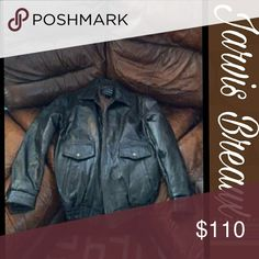 """🎧 HP 100% Leather Fly Bomber Jacket 100% leather. Lined. Buttons on the wrist that snap. Zips up the middle. Like new condition. Great for Fall and Winter.  Color is brown  Measurements: Length from arm pit to waist is 15.5 Arm inseam 18"""" Chest measurement 48"""" Maxaam Jackets & Coats Bomber & Varsity"""