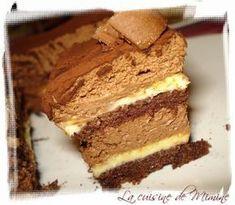 L'Arlequin ( génoise au chocolat/ mousse au chocolat & crème brûlée)