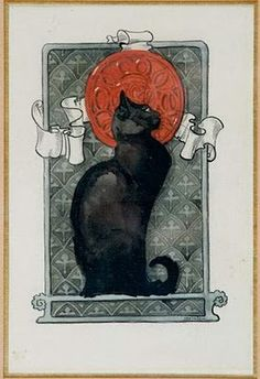 By Théophile-Alexandre Steinlen (1859-1923).... reminds my of our beloved Salem. RIP my desk buddy, we miss you every day