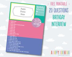 Birthday Interview {including free printable}