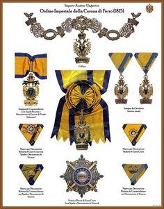 I NOSTRI AVI • Leggi argomento - Tavole ordini AUSTRIA-UNGHERIA (Nuove) Military Signs, Austrian Empire, Emblem, Chivalry, Postage Stamps, Awards, Jewelry, Decorations, Jewels