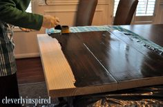 $10* DIY Wood Countertop - Cleverly Inspired We did this for our bathroom. I'm pretty sure it was more than $10 but definitely cheaper than other options and looks great!