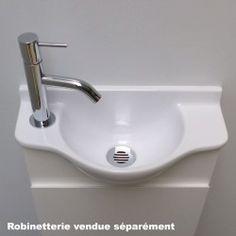 Petit lave mains Solo 20 cm vasque brillante avec meuble rangement Solid Surface, Lave Main Design, Home Decor, Trough Sink, Towel Rail, Door Handle, Homemade Home Decor, Interior Design, Home Interiors