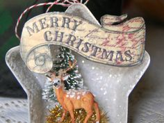 Vintage Tin Ornament by SmallWrksLittleThngs on Etsy, $12.00