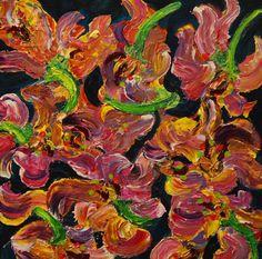 """Nia Tavlarides Stratos, """"Calypso I"""", Mixed Media on Canvas, 20 x 20 in."""