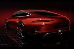 メルセデス・ベンツの高性能車ブランド、メルセデスAMGは、3月7日に開幕するジュネーブ・モーターショーで発表を予定している新たなコンセプト・モデルのデザイン画を公開した。