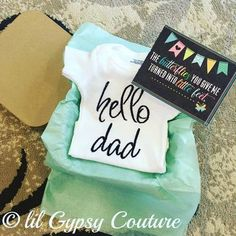 What a cute way to announce your pregnancy to the daddy-to-be!