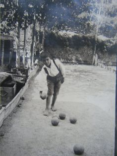 Bocce player....Turin, Italy 1930's (from my grandma's album)