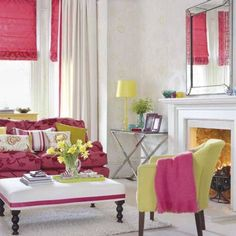 hot pink rooms | Hot Pink Living Room Interior Designs Photo Best interior designs