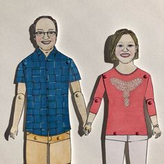 chunkydumpling shared a new photo on Etsy Sharpie Pens, Custom Wedding Gifts, Paper Anniversary, Pen And Watercolor, Portrait Illustration, Uk Shop, Connecticut, Paper Dolls, My Drawings