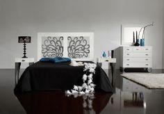 Cabecero Mica. Dormitorio coleccion Mica. Catalogo Decoracion Beltran de camas y cabeceros de madera. Puedes encontrarlo en www.decoracionymadera.com