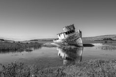Old & Abandoned Boat in the Waters of Point Reyes, California