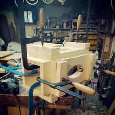 ecovastudesign / Hercik Residence / 2014 / ..preparing the legs for the oval table