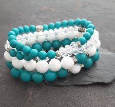 Valentines gift - for your loved one ☺ Natures Healing Vibes 💓 Friendship bracelets -Turquoise bracelet and White Jade bracelet Lava Bracelet, Chakra Bracelet, Heart Bracelet, Stone Bracelet, Friend Bracelets, Couple Bracelets, Friendship Bracelets, Healing Bracelets, Gifts For Women