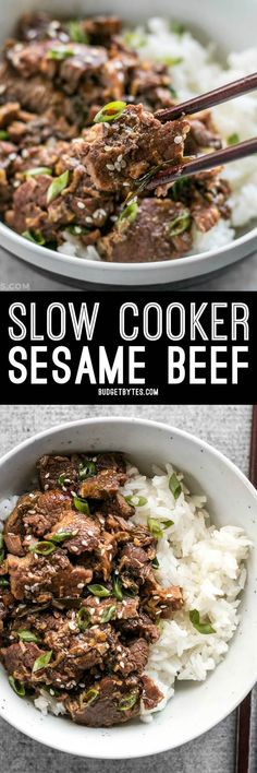 This tender, rich, and flavorful Slow Cooker Sesame Beef is extremely versatile and only requires a few ingredients that can be found at most grocery stores.