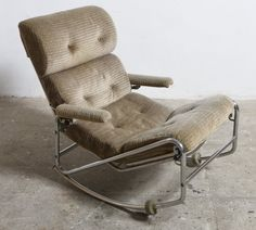 Rare rocking lounge chair, 1960s