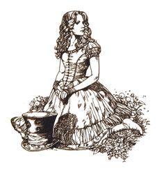 alice in wonderland characters drawings - Google Search
