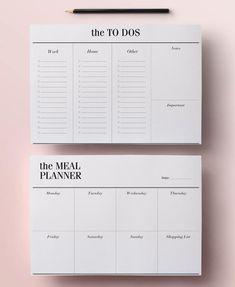 Minimal Planner Agenda Inserts - 12 Printable Planners: Blank Calendar PDF, Weekly Schedule, Daily To Do List, DIY Planner, Black & White Week Planner, Daily Planner Pages, Daily Planner Printable, Goals Planner, Monthly Planner, College Planner, Meal Planning Printable, Printable Calendars, College Tips