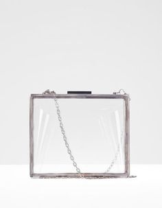 (Stradivarius) Sac clutch transparent