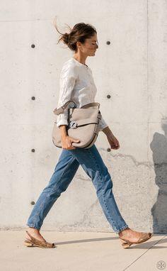 Make a style statement in neutrals à la French blogger Olivia Thébaut.