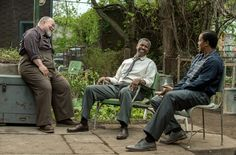 Denzel Washington, Stephen Henderson and Russell Hornsby in Fences (15)