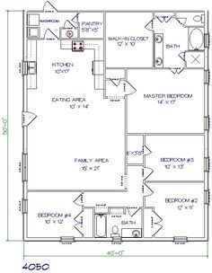 30 Barndominium Floor Plans For Different Purpose | Barn House | Pinterest  | Extra Bedroom, Repurposed And Barn House Plans
