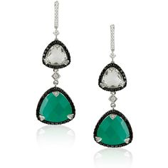 Green Agate and Diamond Earrings Available at Houston Jewelry!  www.houstonjewelry.com Diamond Earrings, Drop Earrings, Green Agate, White Topaz, Turquoise Necklace, Pendant Necklace, Jewels, Houston, Bijoux