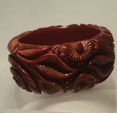 Dark red/ maroon bakelite bangle