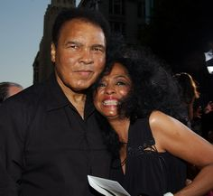Diana Ross and Muhammad Ali arrive for the premiere of new thriller film 'Collateral' held at the Orpheum Theatre in Los Angeles, California on August 2004 Muhammad Ali Boxing, Laila Ali, Ali Michael, Float Like A Butterfly, Star Wars, Diana Ross, Looking Back, Woman Quotes, Black History
