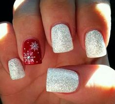 Winter nails art on We Heart It