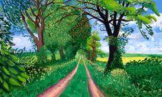 Spring landscape illustration david hockney 43 Ideas for 2019 Landscape Drawing For Kids, Landscape Drawings, Landscape Illustration, Landscape Art, Landscape Paintings, Landscape Photography, Fantasy Landscape, David Hockney Landscapes, David Hockney Art