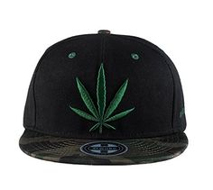 763c66a6430 Marijuana Leaf Weed Snapback Cap Cannabis Embroidered Flat Bill Men s  Baseball Hat Camouflage Brim - http