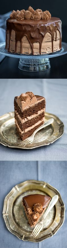 Sweet Heart - Ultimate Chocolate and Nutella layer cake...
